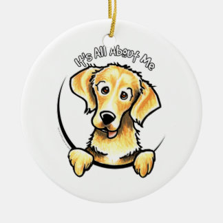 Golden Retriever IAAM Ceramic Ornament