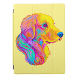 Golden Retriever in Colors iPad Pro Cover