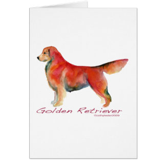 Golden Retriever in living color Card