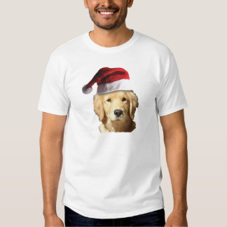 Golden Retriever In Santa Hat T-shirt