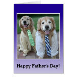 Golden Retriever in Shirt and Tie Father's Day Cards