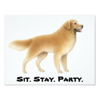 Golden Retriever Invitation