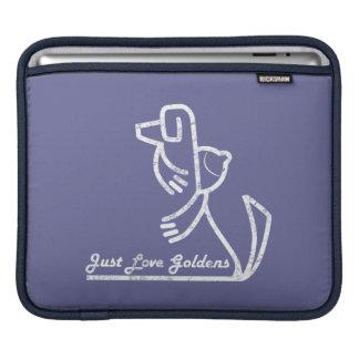 Golden Retriever iPad Sleeve, Just Love Goldens Sleeve For iPads