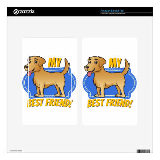 Golden Retriever is my best friend Skins For Kindle Fire