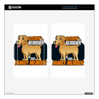 Golden Retriever is our Family Member Kindle Fire Skins