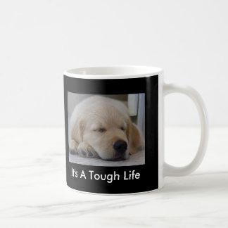 Golden Retriever It's A Tough Life Puppy Mug