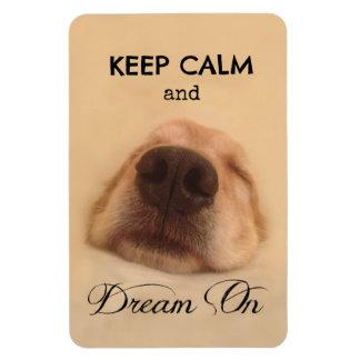 Golden Retriever Keep Calm Dream On Magnet