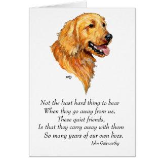 Golden Retriever Keepsake Card