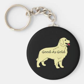 Golden Retriever Keychain