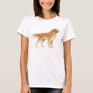 Golden Retriever Ladies Baby Doll Shirt