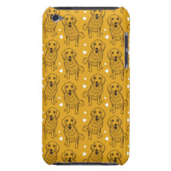 Case-Mate iPod Touch Barely There Case with Golden Retriever Phone Cases design