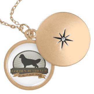 Golden Retriever Locket Necklace