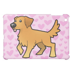 Golden Retriever Love (add a pern) Cover For The iPad Mini