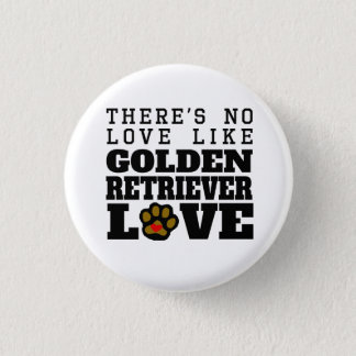 Golden Retriever Love Button