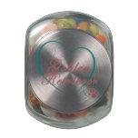 Golden Retriever Love Glass Candy Jar