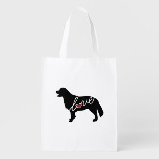 Golden Retriever Love Grocery Bag