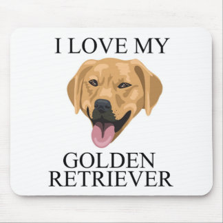 GOLDEN RETRIEVER Love! Mouse Pad