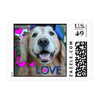 Golden Retriever Love Stamp