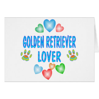 GOLDEN RETRIEVER LOVER CARD
