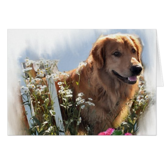 Golden Retriever Lovers Gifts Card