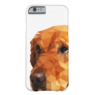 Golden Retriever Low Poly Art Barely There iPhone 6 Case