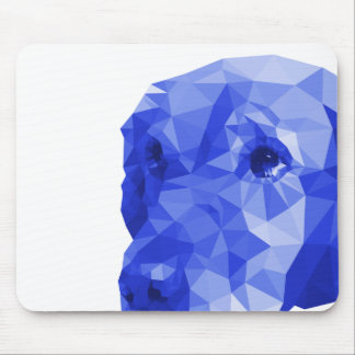 Golden Retriever Low Poly Art in Blue Mouse Pad
