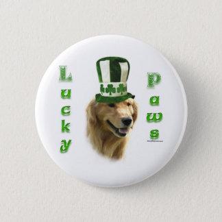 Golden Retriever Lucky Paws Button