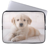 Golden Retriever Lying Down Laptop Sleeve