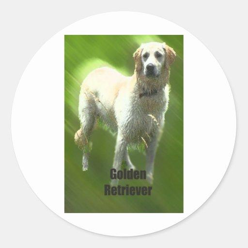 Golden Retriever Marley breed Round Sticker