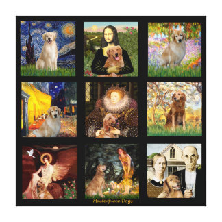 Golden Retriever Masterpieces #1 Gallery Wrapped Canvas