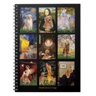 Golden Retriever Masterpieces (#1) Spiral Notebook
