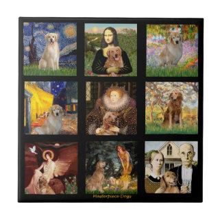 Golden Retriever Masterpieces (#1) Tiles