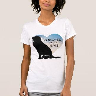 Golden Retriever Memorial Custom Name Silhouette T-Shirt