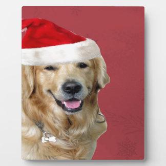 Golden Retriever Merry Christmas Plaque