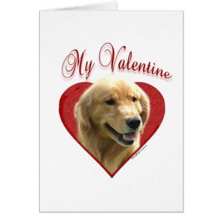 Golden retriever mi tarjeta del día de San Valentí