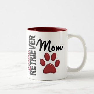 Golden Retriever Mom 2 Two-Tone Coffee Mug