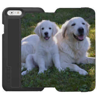 Golden Retriever Mom and Puppy iPhone 6/6s Wallet Case