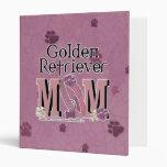 Golden Retriever MOM Binders