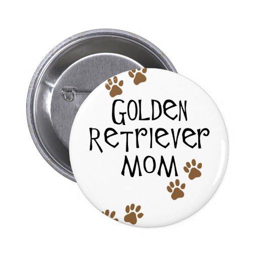 Golden Retriever Mom Button