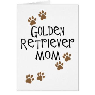 Golden Retriever Mom Greeting Card
