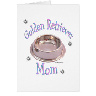 Golden Retriever Mom Card