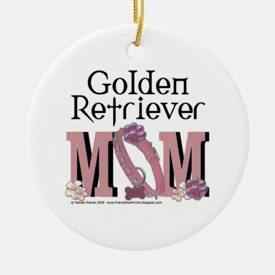 Golden Retriever MOM Ceramic Ornament