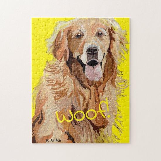 Golden Retriever Mom Cute Dog Breed Jigsaw Puzzle