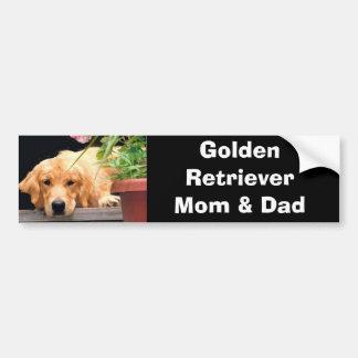 Golden Retriever Mom & Dad Bumper Sticker