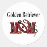 Golden Retriever Mom Gifts Classic Round Sticker