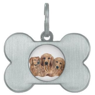 Golden Retriever MOM Gifts Pet Name Tag