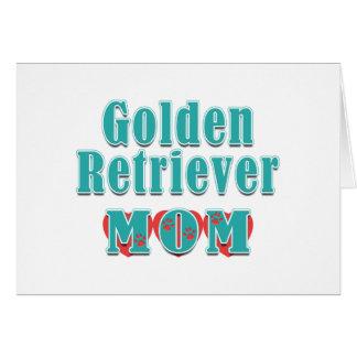 Golden Retriever Mom Hearts Stationery Note Card