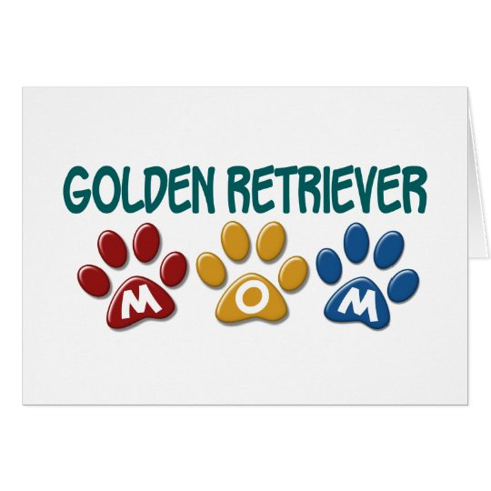 GOLDEN RETRIEVER Mom Paw Print 1 Card
