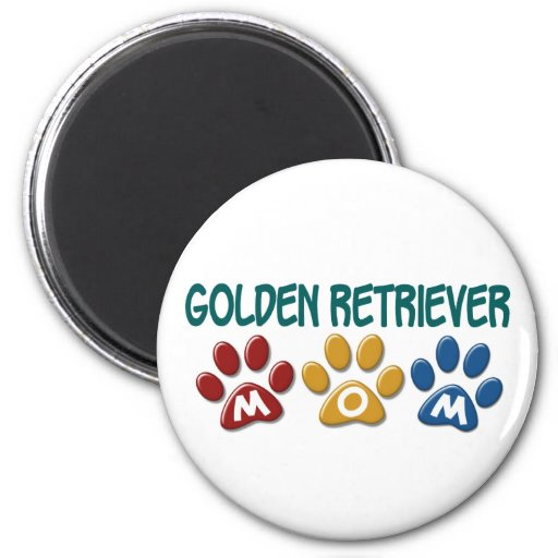 GOLDEN RETRIEVER Mom Paw Print 1 Fridge Magnet