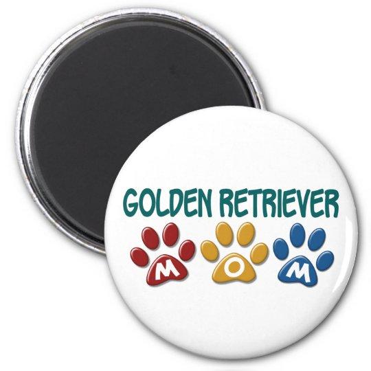 GOLDEN RETRIEVER Mom Paw Print 1 Magnet